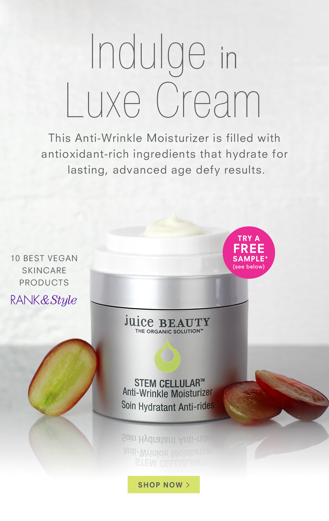 Indulge in Luxe Cream