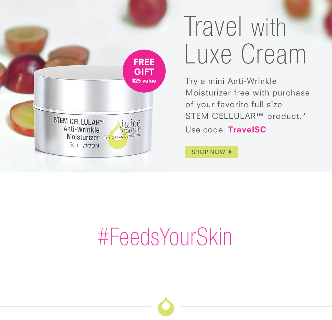 FREE Travel Anti-Wrinkle Moisturizer with purchase.*
