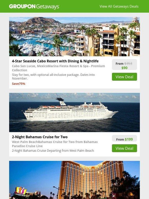Groupon 4-Star Cabo San Lucas  Bahamas Cruise  4-Star -5196
