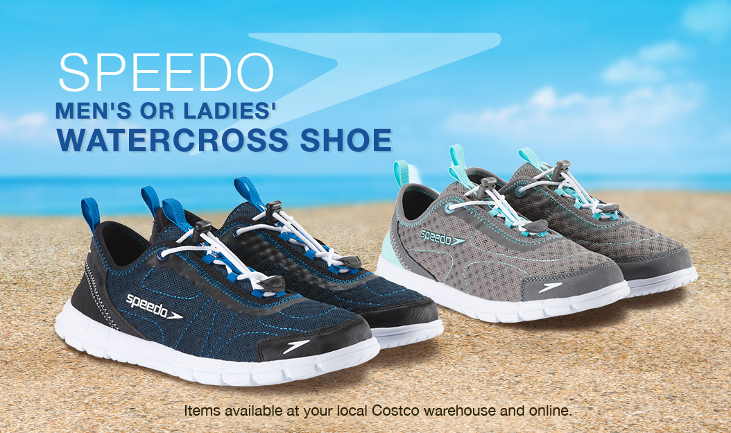 Speedo Men's or Ladies' Watercross Shoe. Items available at your local  Costco warehouse and