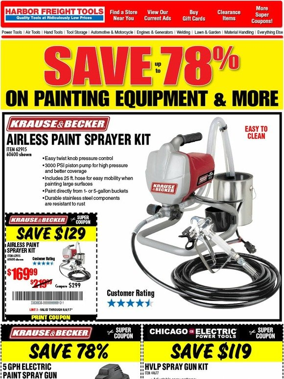 Harbor Freight: MASSIVE DISCOUNTS! Save up to 78% | Milled