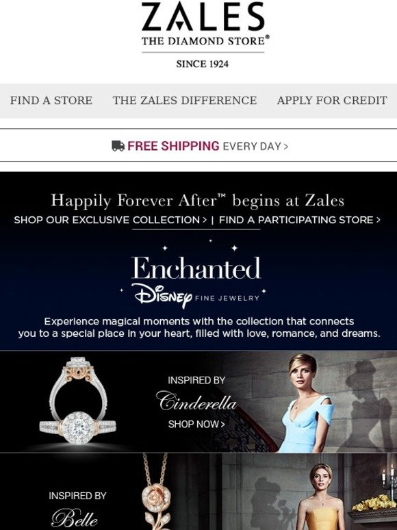 Zales Introducing Our New Enchanted Disney Fine Jewelry
