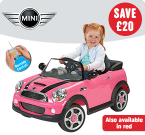 Pink Mini Cooper 6V Ride on with Remote Control