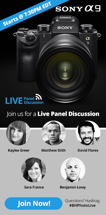Join us for a Live Panel Discussion - Sony a9