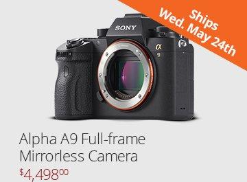 Sony Alpha a9 Full-Frame Mirrorless Camera - $4,499.00