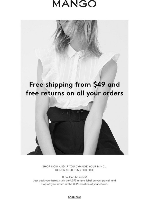 Enjoy free returns at Mango 34 used this week. Get deal Retailer website will open in a new tab. £ ONLY. Shop women's new arrivals from £ at Mango Get deal.