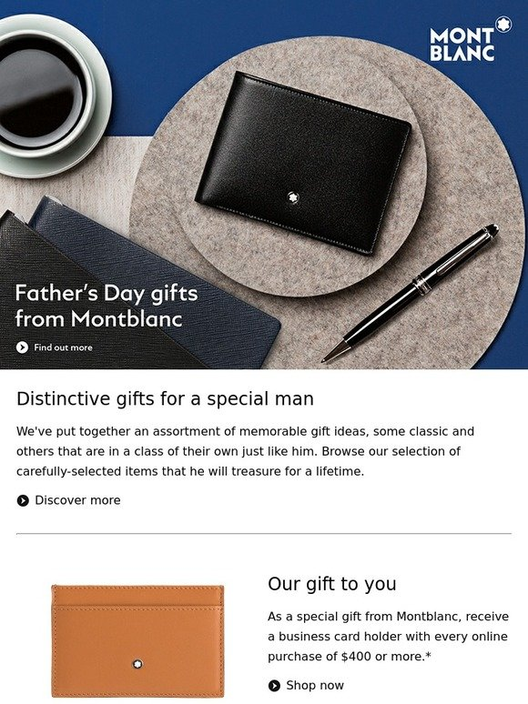 Montblanc discover our fathers day gift guide enjoy a business montblanc discover our fathers day gift guide enjoy a business card holder milled reheart Choice Image