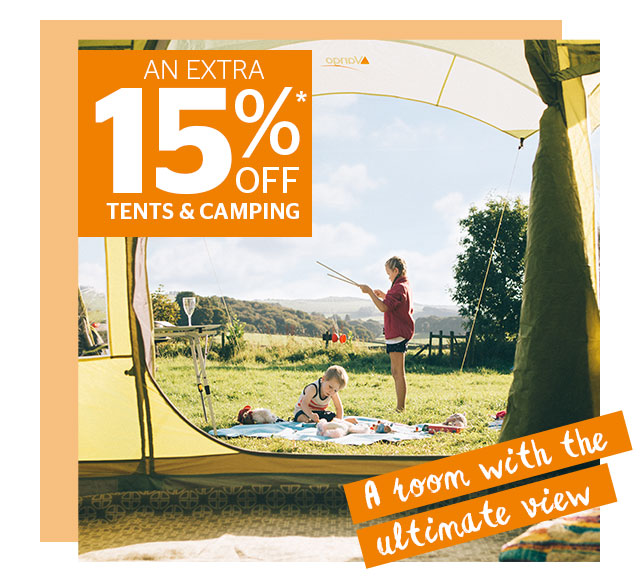 An Extra 15% Off Tents & Camping