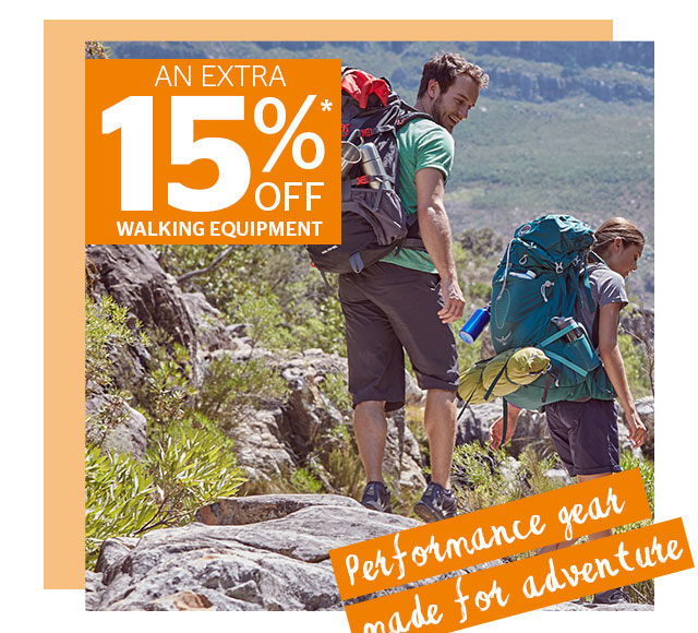An Extra 15% Off Walking Equipment