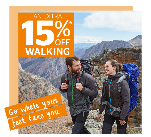 An Extra 15% Off Walking