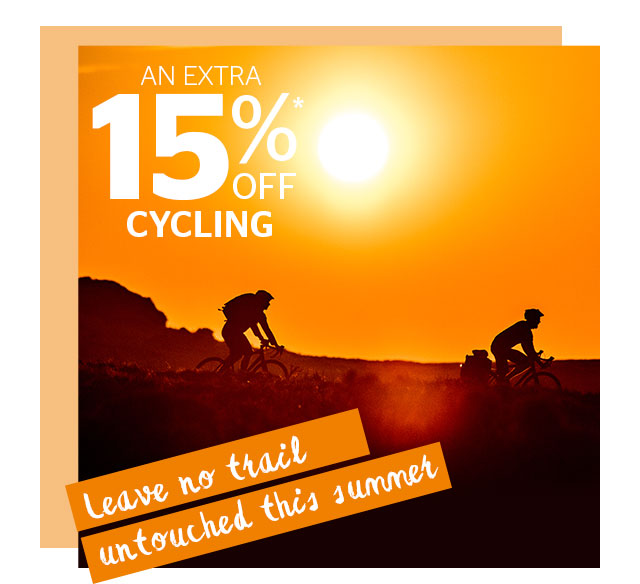 An Extra 15% Off Cycling