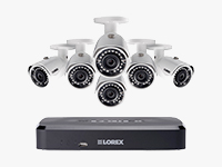 8-Channel NVR with 6 HD Camera Surveillance System