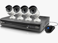 8-Channel 4MP NVR with 2TB HDD and Outdoor Night Vision Bullet Cameras
