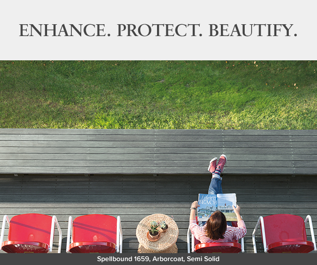 ENHANCE. PROTECT. BEAUTIFY. Spellbound 1659, Arborcoat, Semi Solid