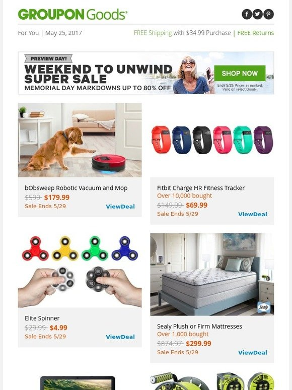4df055d5436a Groupon  2-Day Preview! Memorial Day Super Sale