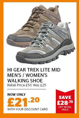 Hi Gear Trek Lite Mid Men's and Women's Walking Shoe