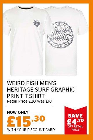 Weird Fish Men's Heritage Surf Graphic Print T-Shirt