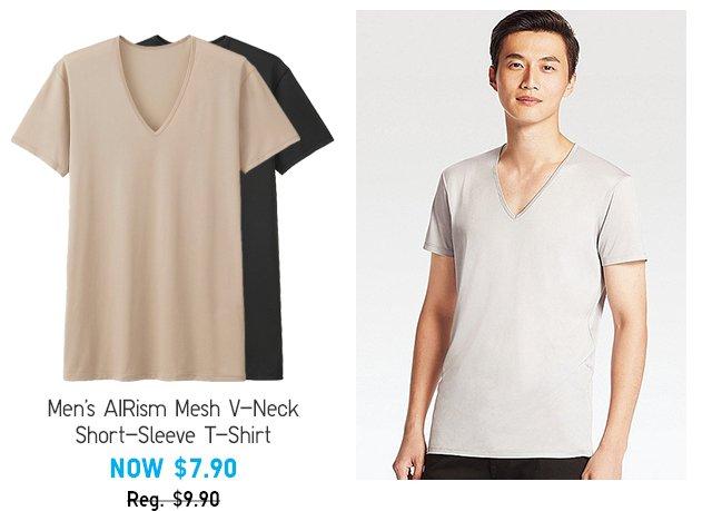AIRism Mech V-Neck Short-Sleeve T-Shirt - Shop Men