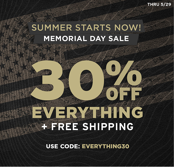 30% off everything + free shopping. Use code EVERYTHING30 through 5/29.
