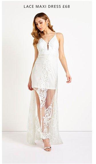 Love Triangle Lace Maxi Dress