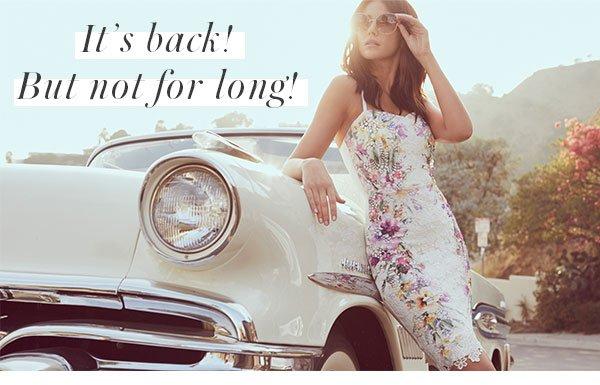 Michelle Keegan Lace Floral Print Cami Dress
