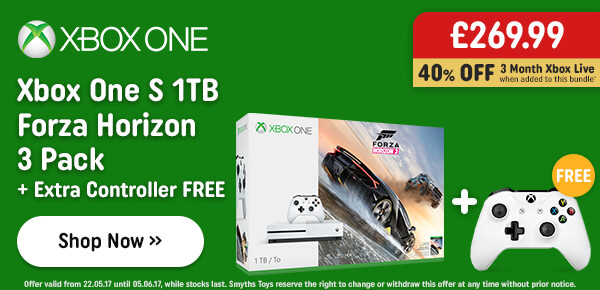 Xbox One S 500GB FIFA 17 or Forza Horizon 3 Pack & Any Game
