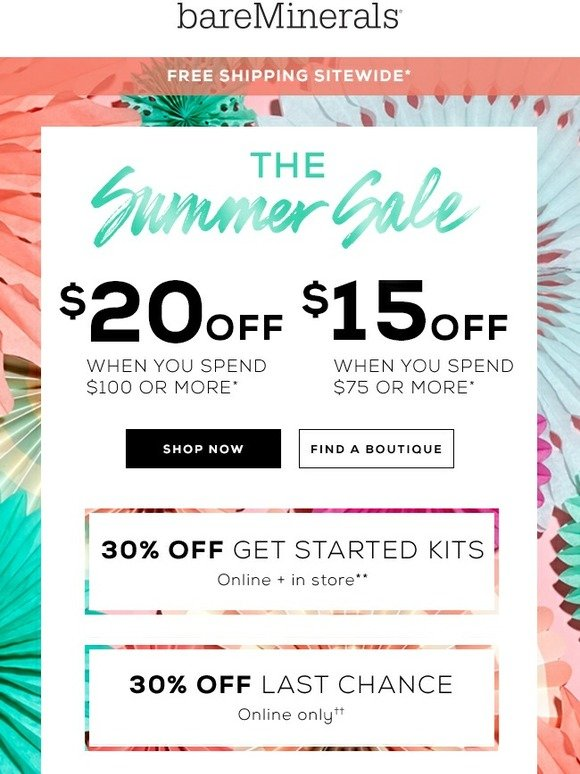 bareMinerals: The Summer Sale is here | Milled