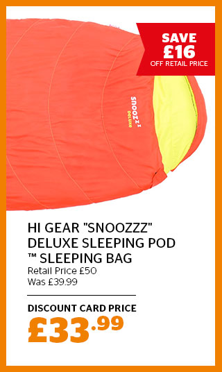 "Hi Gear ""Snoozzz"" Deluxe Sleeping Pod Sleeping Bag"