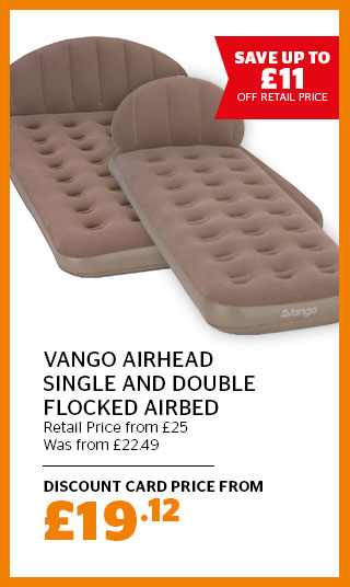 Vango Airhead Single and Double Flocked Airbed