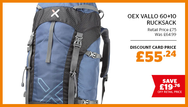 OEX Vallo 60+10 Rucksack