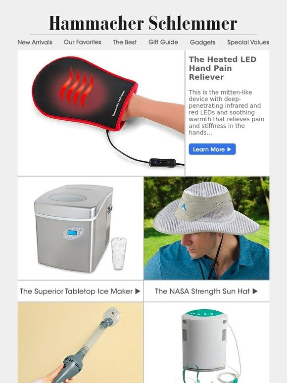 5d7533c28f009 Hammacher Schlemmer  The Heated LED Hand Pain Reliever