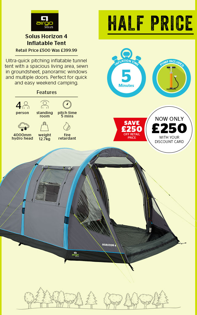d4d068142c76a Go Outdoors: Wow! Up to HALF PRICE tents – Save £250 on Solus ...