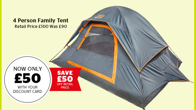 Bear Grylls 4 Person Family Tent