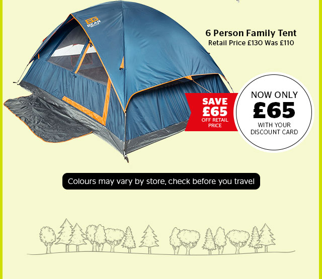 Bear Grylls 6 Person Family Tent