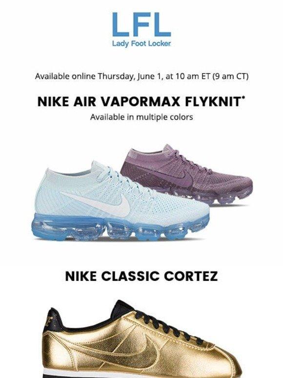 77b2be2c3f5 Lady Foot Locker  Nike Air VaporMax Flyknit – available 6.1