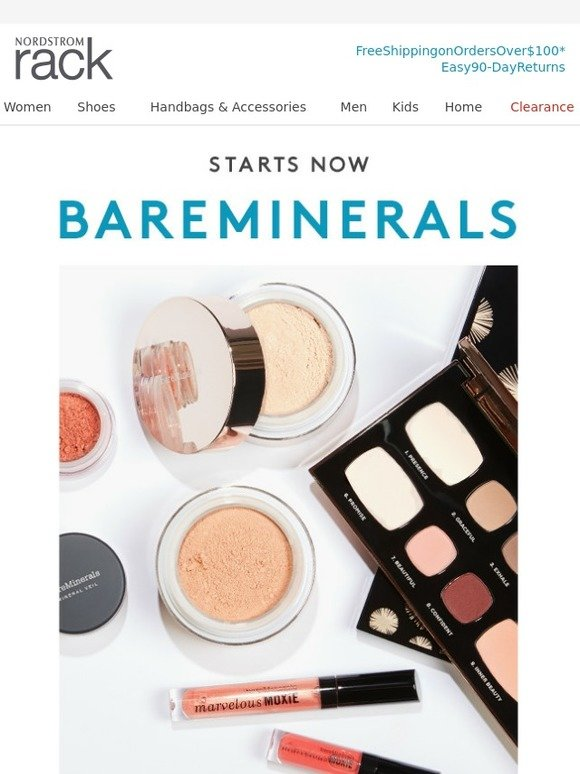 Nordstrom Rack: The bareMinerals Event starts now! | Milled