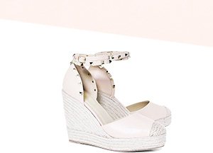 Boohoo Studded Ankle Strap Wedges