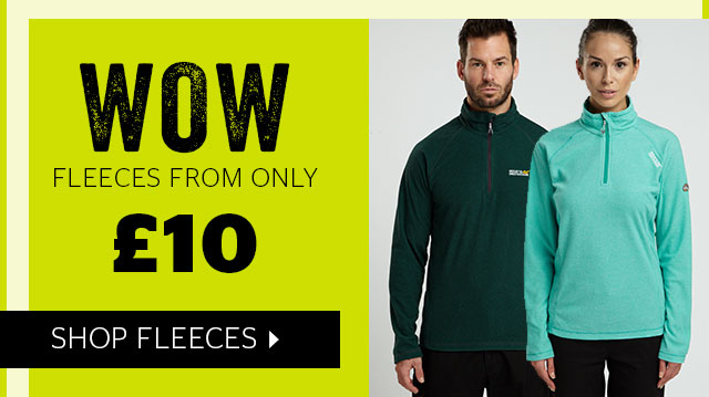 Fleeces from only £10