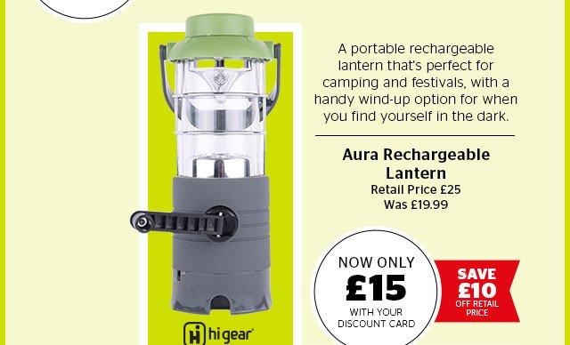 Hi Gear Aura Rechargeable Lantern