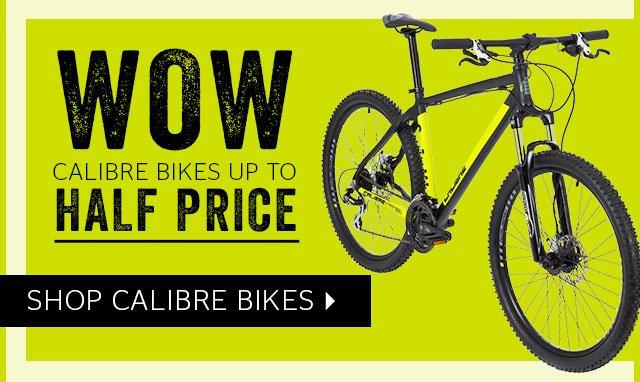 Calibre Bikes up to half price