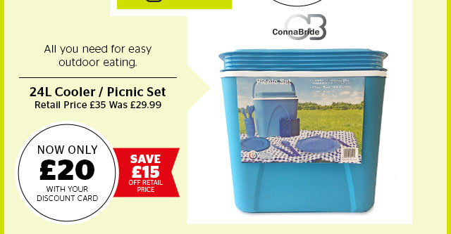 Connabride 24L Cooler / Picnic Set