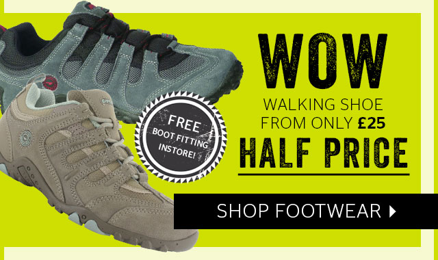 WOW walking shoes from only £25 - half price