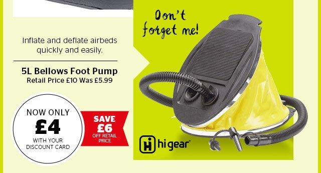 Hi Gear 5L Bellows Foot Pump