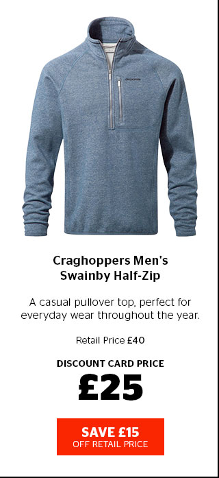 Craghoppers Men's Swainby Half-Zip