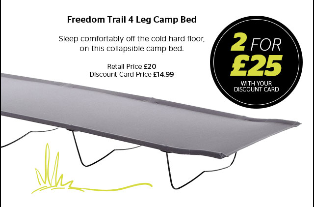 Freedom Trail 4 Leg Camp Bed