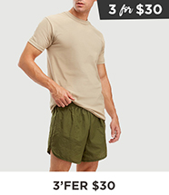 Select Shorts 3 for $30