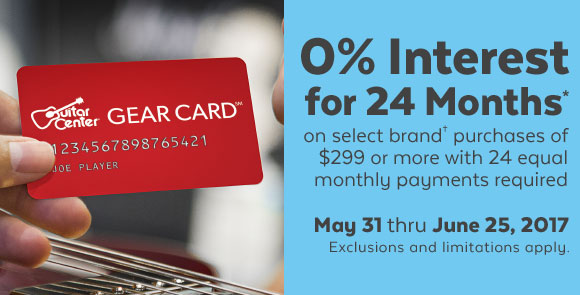 Guitar Center Get Special Promo Financing On Select Items