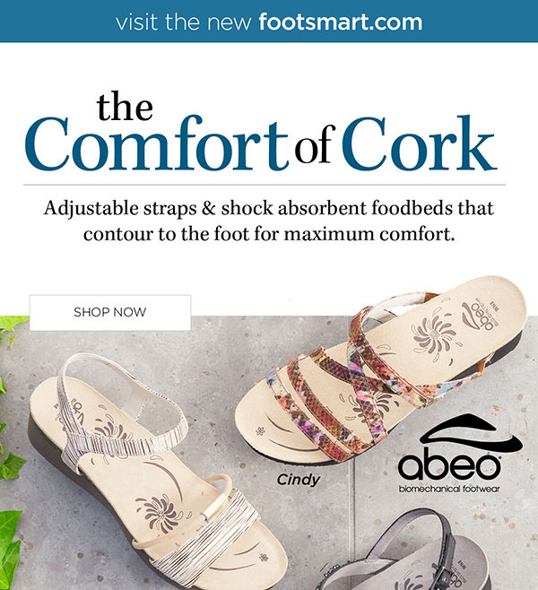 6b5e548541d8 Foot Smart   Enjoy Summer Comfort in Cork + FREE Shipping!