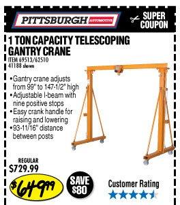 Harbor Freight Gantry Crane >> Harbor Freight: Huge Garage & Shop Blowout Sale | Milled