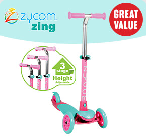 Zycom Zing Scooter Teal/Pink